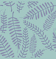 Seamless pattern with branches on a turquoise vector image