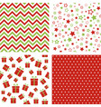 set of christmas patterns seamless backgrounds vector image