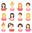 set of woman icons isolated on white vector image vector image