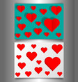 set valentines day or mothers day vintage banners vector image vector image