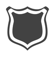 shield protection web insignia security vector image
