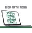 show me money vector image vector image