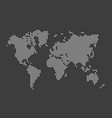 simple dotted world map vector image