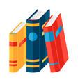 stylized books vector image