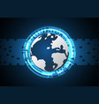 Technology cyber abstract world circle rectangle vector image
