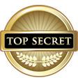 top secret icon vector image vector image