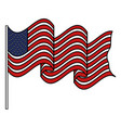 united states of asmerica flag vector image vector image