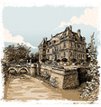 Vintage View of Chateau de Rosay Eure France vector image vector image