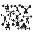 weightlifter silhouette vector image vector image