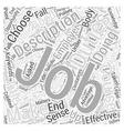 Why Effective Job Descriptions Make Good Business vector image vector image
