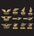 wings logo collection - golden auto logo vector image vector image