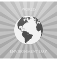 World Environment Day Eco Background Template vector image vector image