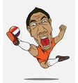 soccer player Netherland vector image