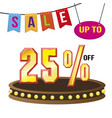 special 25 offer sale tag isolated vector image