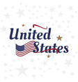 usa lettering with flag label badge flat vector image