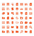 49 folder icons vector image vector image