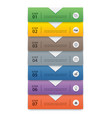 7 data infographics tab paper index template