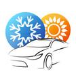 air conditioning auto symbol vector image vector image