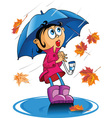 autumn rain vector image