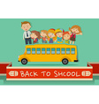 Back to school theme with teachers and kids vector image