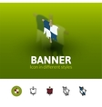 Banner icon in different style vector image vector image