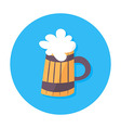 Beer mug flat stylized circle icon vector image