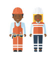 black people worker vector image