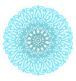 blue mandala isolated on white background vector image