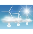 Bulb-turbines in the clouds vector image