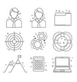 business icons thin line design in finance vector image vector image