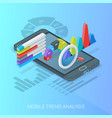 business trends analysis banner vector image