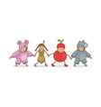 carnival costumes adorable animal apple baby vector image vector image