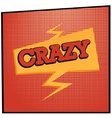 cartoon crazy vector image vector image