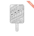 cartoon hand drawn ice cream vector image