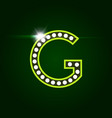 casino and resort letter g luxury letter with vector image