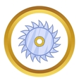 Circular saw blade icon vector image vector image