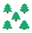 collection trees vector image