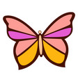 colorful butterfly on white background vector image vector image