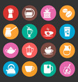 colorful coffee icons set vector image vector image