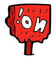 comic cartoon no sign vector image vector image