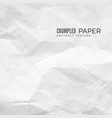 Crumpled paper texture white empty leaf of