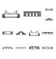 design of design and construct logo set of vector image vector image