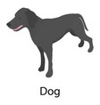 dog icon isometric style vector image vector image