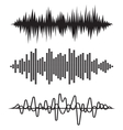 Equalizer pulse heart beats cardiogram vector image vector image