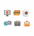 Flat design business and office objects in vector image vector image