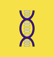 flat icon design collection human dna vector image vector image