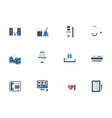 flat icons set for private clinic vector image vector image