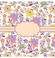 frame with floral pattern vector image vector image