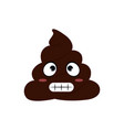 funny poop face vector image