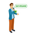 go vegan modern lifestyle isometric young vector image vector image